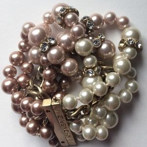 Givenchy Pearls and Gold Link Bracelet